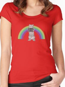 LOMO KITTY!  Women's Fitted Scoop T-Shirt