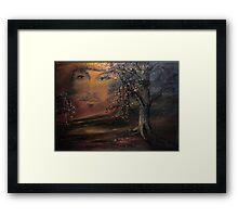 When trees beginn to paint ... Framed Print