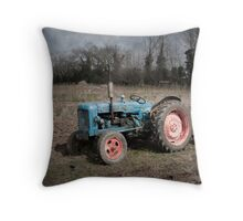 Old Fordson Tractor at Wicklewood, Norfolk Throw Pillow