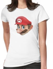 Realistic mario Womens Fitted T-Shirt