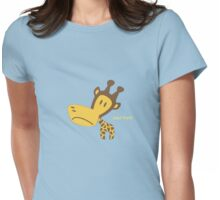 Clancy the Giraffe Womens Fitted T-Shirt