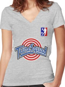 Space Jam Women's Fitted V-Neck T-Shirt