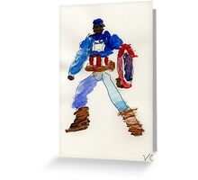 American Captain  Greeting Card