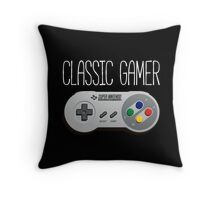 Classic gamer (snes controller) Throw Pillow