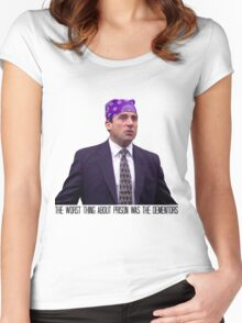 Prison Mike - The Worst Thing About Prison Was the Dementors Women's Fitted Scoop T-Shirt