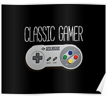 Classic gamer (snes controller) Poster