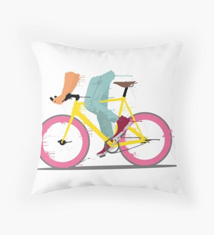 fixie bicycle Throw Pillow