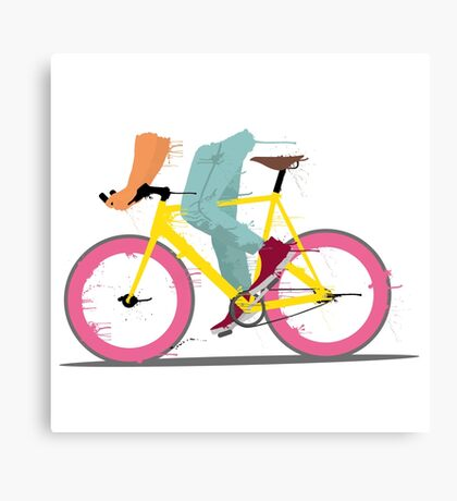 fixie bicycle Canvas Print