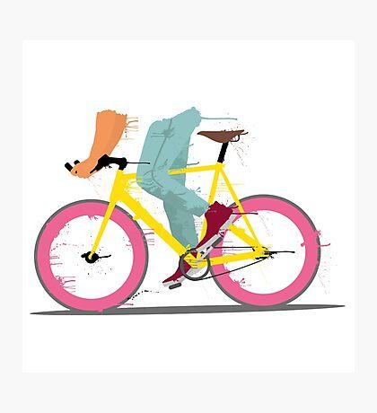 fixie bicycle Photographic Print