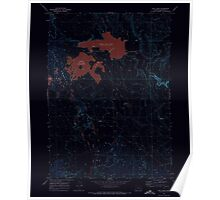 USGS Topo Map Oregon Cow Lakes 279464 1969 24000 Inverted Poster