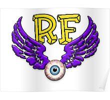 Flying Eyeball RF 0001 Poster