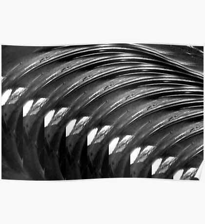 Black & White ~ Macro Abstract Poster