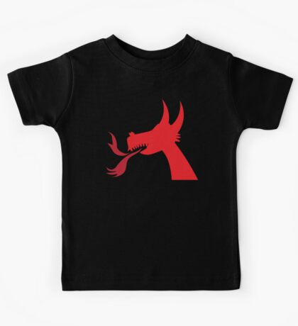 RED Dragon head Kids Tee