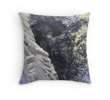 The Wailing Wall on Staffa Throw Pillow