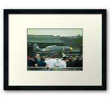 Fury landing in front of crowd Framed Print