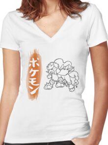 Entei Women's Fitted V-Neck T-Shirt