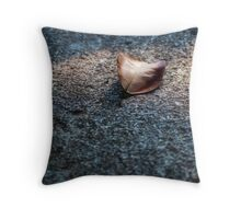 Lonely winter leaf Throw Pillow