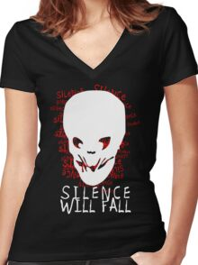 Silence Will Fall Women's Fitted V-Neck T-Shirt