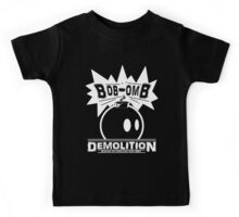 Bob-Omb Demolition White Kids Tee