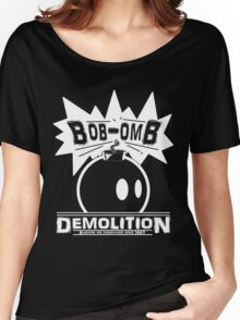 Bob-Omb Demolition White Women's Relaxed Fit T-Shirt