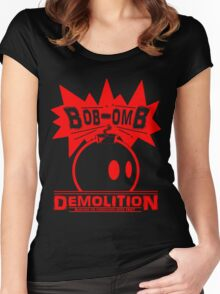 Bob-Omb Demolition red Women's Fitted Scoop T-Shirt