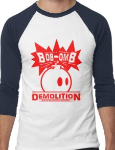 Bob-Omb Demolition red Men's Baseball ¾ T-Shirt
