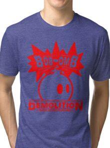 Bob-Omb Demolition red Tri-blend T-Shirt