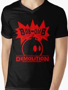 Bob-Omb Demolition red Mens V-Neck T-Shirt