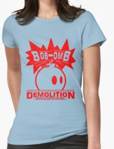 Bob-Omb Demolition red Womens Fitted T-Shirt
