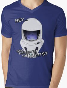 """""""Hey Who Turned Out The Lights"""" Mens V-Neck T-Shirt"""