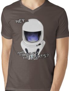 """Hey Who Turned Out The Lights"" Mens V-Neck T-Shirt"