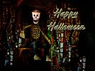 Happy Halloween Skeleton Greeting Card by MotherNature
