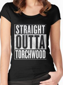 Straight Outta Torchwood Women's Fitted Scoop T-Shirt