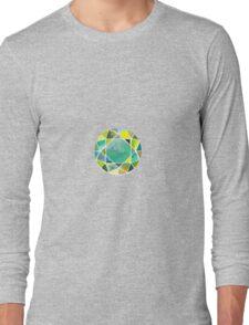Green watercolor diamond Long Sleeve T-Shirt