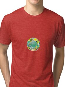 Green watercolor diamond Tri-blend T-Shirt