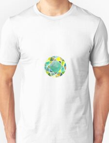 Green watercolor diamond Unisex T-Shirt