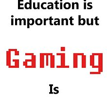 But Gaming Is Importanter by MikeJustGaming