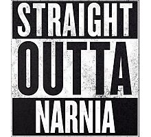 Straight Outta Narnia Photographic Print