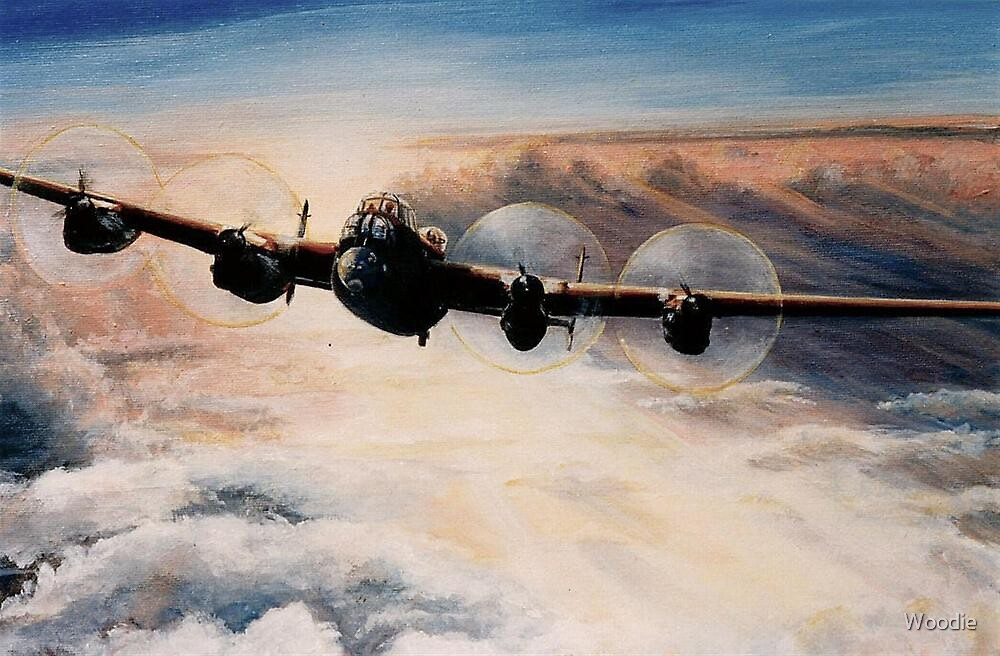 Lanc at sunset by Woodie