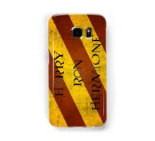 Golden Trio + Gryffindor + Deathly Hallows Samsung Galaxy Case/Skin