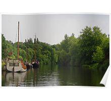 Sail Boats At Allington Poster