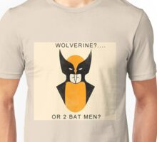 Wolverine or 2 Bat Men? Unisex T-Shirt
