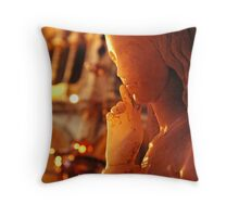 angel statue, basilica at Montserrat, Spain Throw Pillow