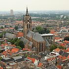 Rooftop view over Delft by Stephanie Owen