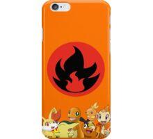 Fire Type Starters iPhone Case/Skin