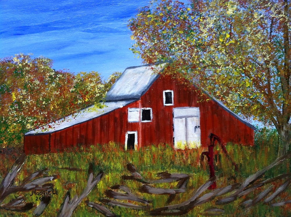Old red  barn  by maggie326