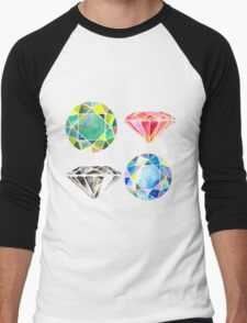 Diamonds, Diamonds, Diamonds Men's Baseball ¾ T-Shirt