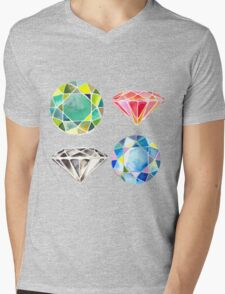 Diamonds, Diamonds, Diamonds Mens V-Neck T-Shirt