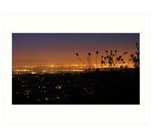 a view of L. A....... Art Print