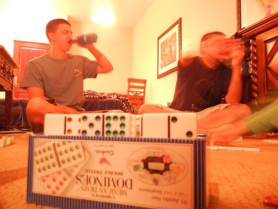 Dominoes & Beer by Laura Jackson
